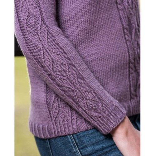 Vermont Fiber Designs Top-Down Cable and Diamond Pullover PDF -  ()