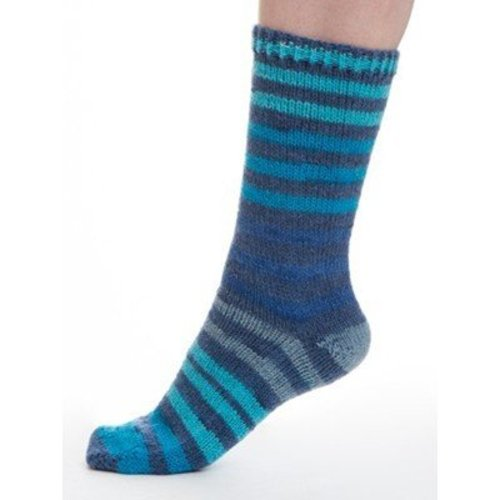 Viking of Norway Aurora Sock - Blue, Turquoise, Navy, Gray (625)