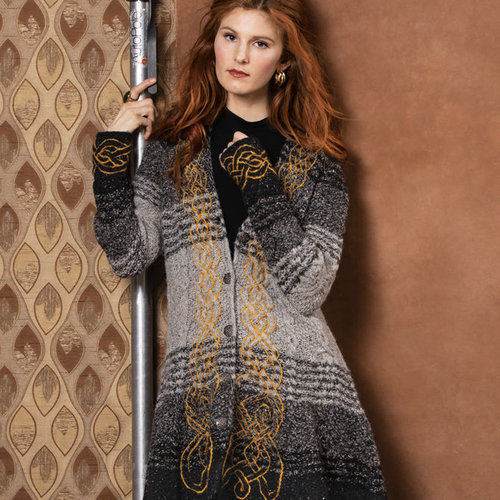 "Vogue Knitting Celtic Flame Coat Kit - 38"" (1)"
