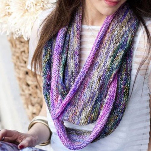 Vogue Knitting Purple and Pink Extra Long Cowl (Free) -  ()