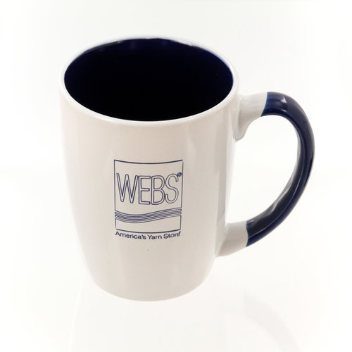 WEBS Ceramic Logo Mug - White w/ Blue (WHTBLUE)