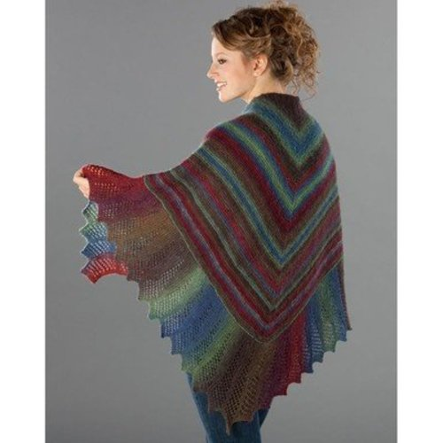 Wisdom Yarns Lace Edge Garter Stitch Shawl (Free) -  ()