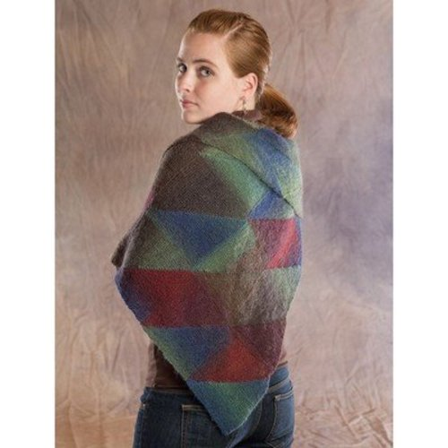 Wisdom Yarns Stained Glass Triangular Shawl (Free) -  ()