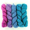 Wonderland Yarns Mad Hatter 5-Skein Pack - Turquoise To Fuchsia, #31 (31TURQUOIS)