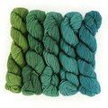 Wonderland Yarns Mad Hatter 5-Skein Pack - Lime To Turquoise Shadow, #33 (33LIMETURQ)