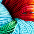 Wonderland Yarns Mad Hatter - Colorburst Collection: #02, Blue Skies & Rainbows (02BLUE)