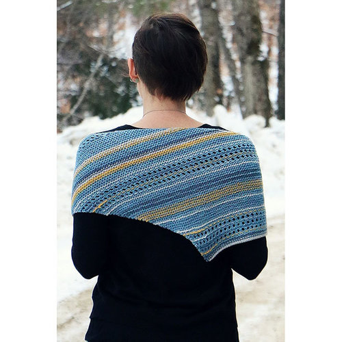 Wonderland Yarns Scatter Stripe Shawl PDF -  ()