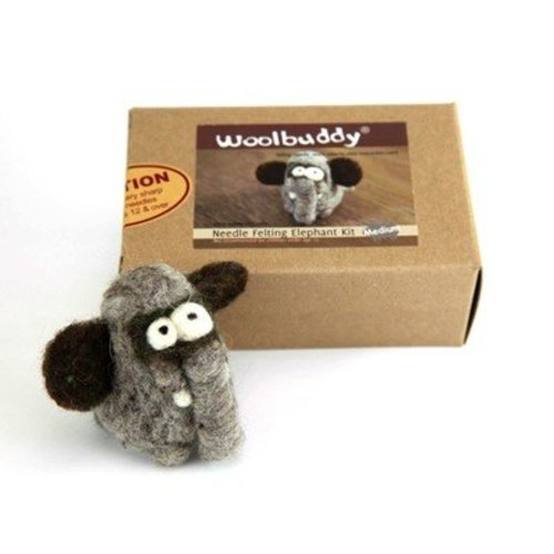 Woolbuddy Needle Felting Kit - Elephant (ELEPHANT)