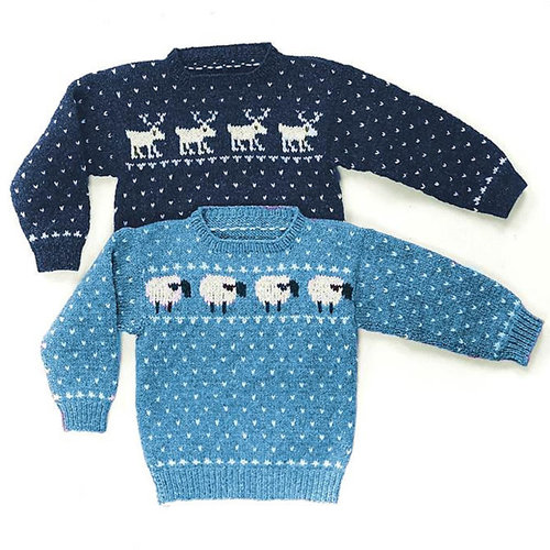 Yankee Knitter Designs 1 Child's Sheep & Reindeer Sweaters -  ()