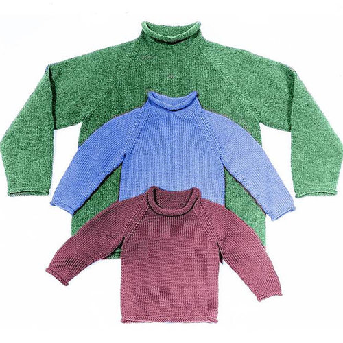 Yankee Knitter Designs 21 Roll Raglan for Children & Adults -  ()