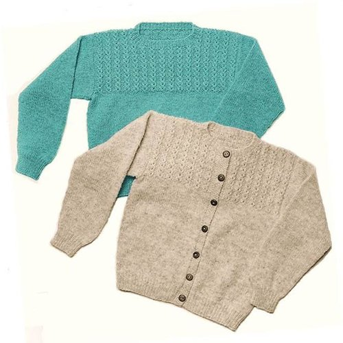 Yankee Knitter Designs 8 Mock Cable Pullover & Cardigan -  ()