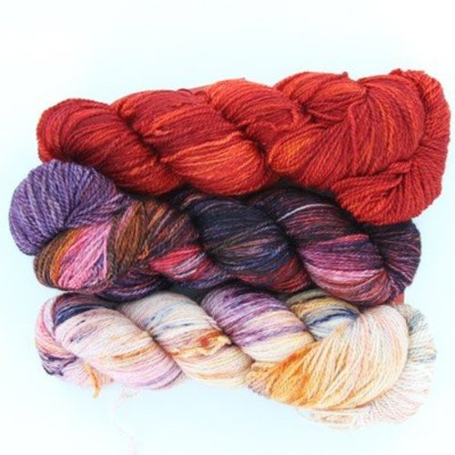 Zen Yarn Garden Roma Shawl Kit in Serenity Silk + - Ember/Heather (EMBER)